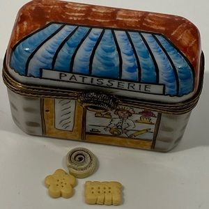 """Limoges """"Patisserie"""" Box With Biscuits & Bun"""